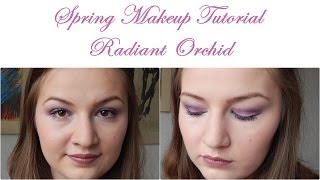 Spring Makeup Tutorial: Radiant Orchid // Hooded Eyelids //Using essence makeup Thumbnail