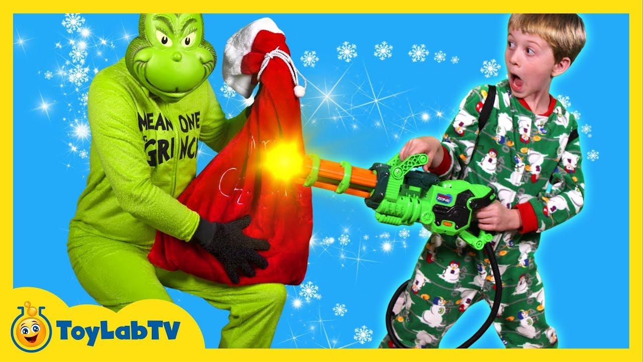 grinch takes toys santa claus christmas surprise toys for kids w