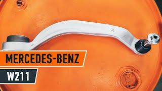 Montavimo gale ir priekyje Vikšro Valdymo Svirtis MERCEDES-BENZ E-CLASS (W211): nemokamas video