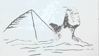 How to Draw Sphinx Pyramid