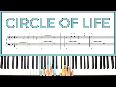 How to play 'THE CIRCLE OF LIFE' by Elton John on the piano -- Playground Sessions