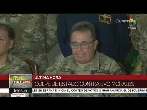 """El Comandante General de Fuerzas Armadas de Bolivia, """"sugiere"""" a Evo Morales renunciar"""