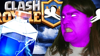 how (not) to USE the lightning and CHEST OPENING ➽ Clash Royale account no free gems deck 4000 +