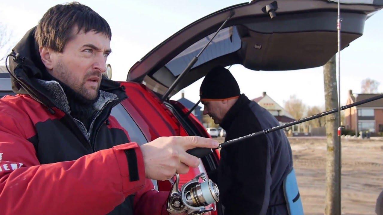 Streetfishing ausrüstung. ultraleicht angeln. fischen in der stadt