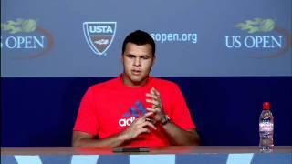 2011 US Open Press Conferences: Jo-Wilfried Tsonga (Quarterfinals)
