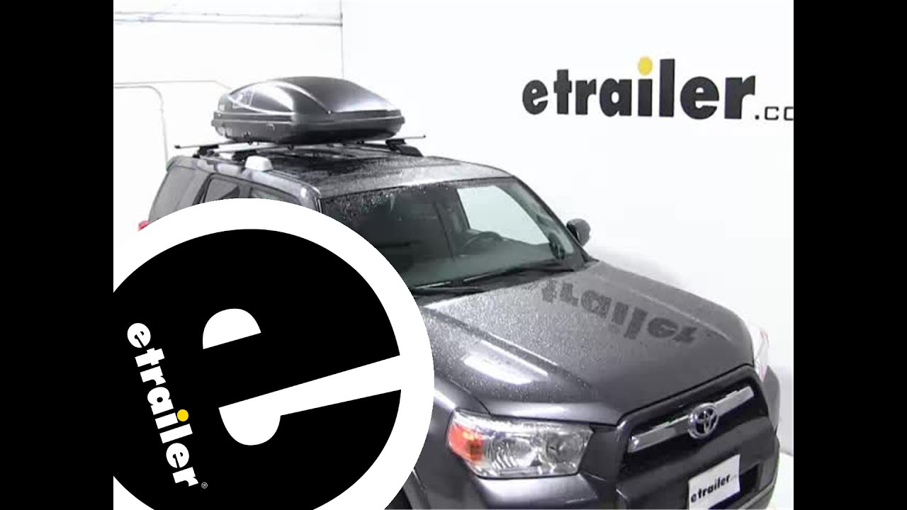 Thule Force Medium Rooftop Cargo Box Review 2012 Toyota