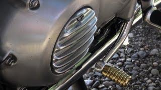 Triumph T120 Bonneville, classic vintage style, WEBCO inspired parts by MOTONE Customs!