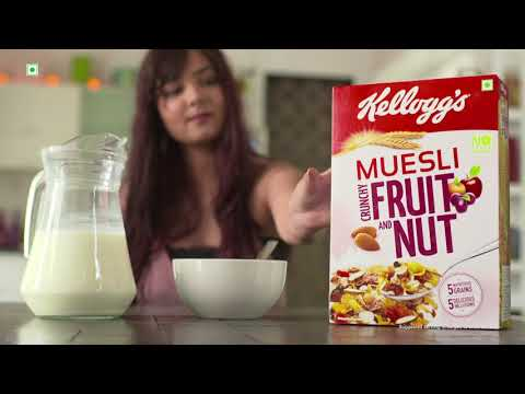 KELLOGG'S MUESLI - Multigrain Breakfast for the Unstoppables - Shraddha