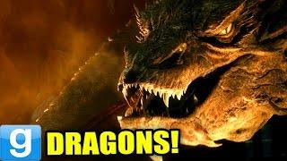 WORKING DRAGONS!! - Gmod Dragon Flying NPC Mod (Garry's Mod)