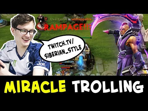 Miracle trolling and promoting small streamer — RAMPAGE Anti-Mage