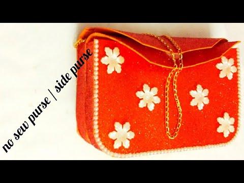 DIY   no sew glitter foam sheet purse   glitter foam sheet purse /clutch / bag