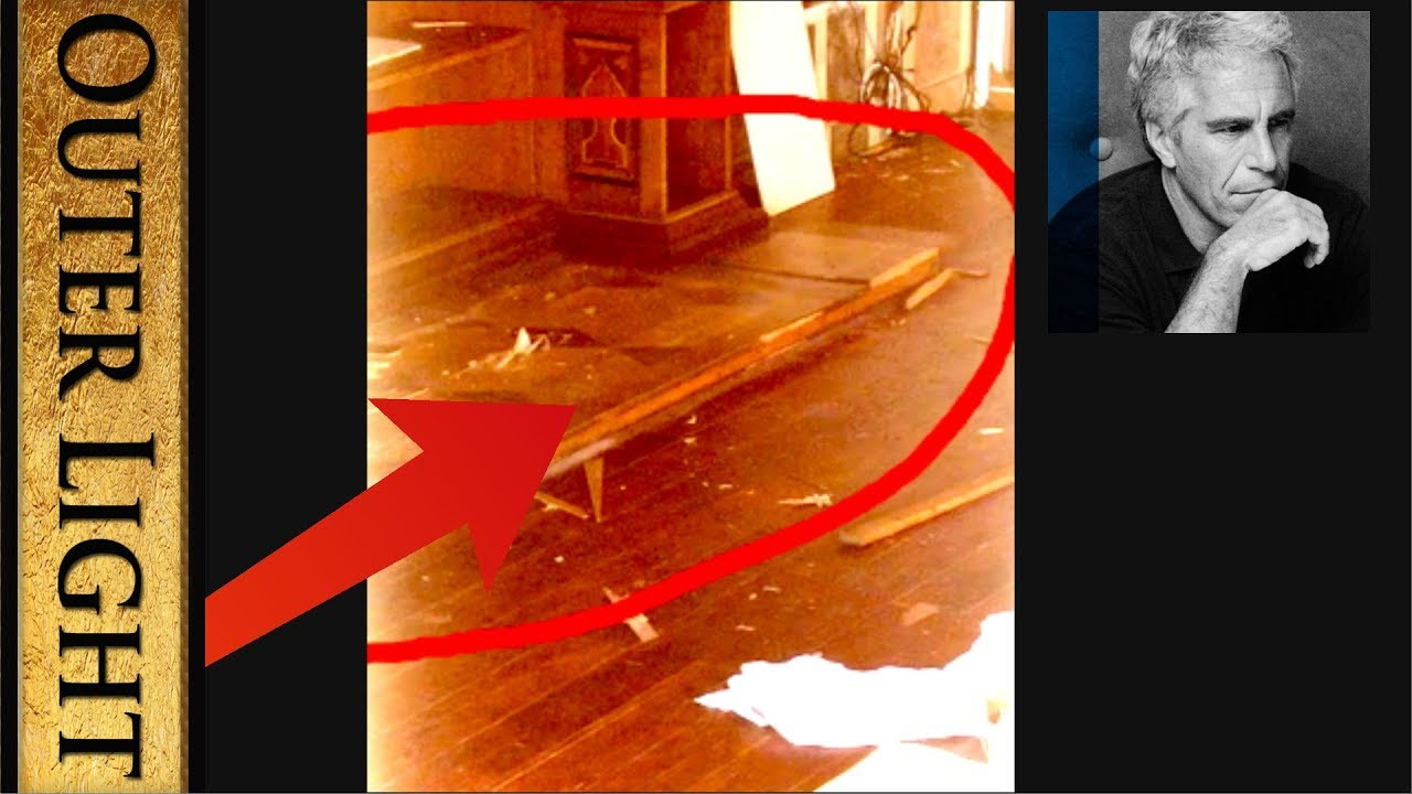 The Outer Light Broken wood around floorboards inside Epstein Temple post FBI raid