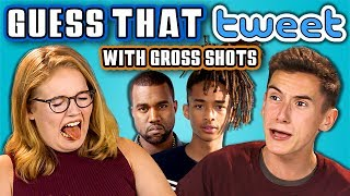 TEENS GUESS THAT TWEET CHALLENGE (with GROSS SHOTS!!!) (React)