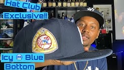 Hat Club Exclusive New York Yankees New Era Hat 1950 World Series Side Patch Icy Blue Bottom Review