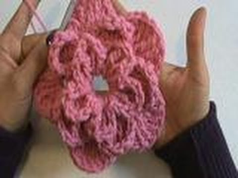 1 DE 4 COMO TEJER BUFANDA DECORATIVA DE FLOR GANCHILLO CROCHET - YouTube