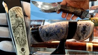 Нож Складной нож Выставка ножей Клинок 2018 Весна. Russian Knives Exhibition Klinok 2018 Spring
