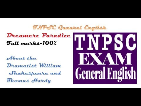 Dramatist Shakespeare and Thomas Hardy - Tnpsc General English
