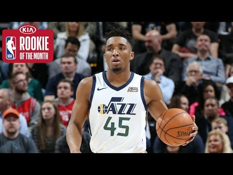 Donovan Mitchell IMPRESSIVE MONTH | Kia Rookie of the Month for February
