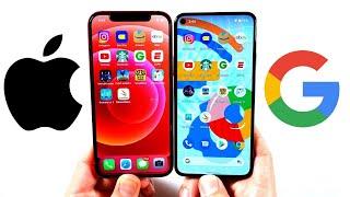 iPhone 12 vs Pixel 5 Speed Test!