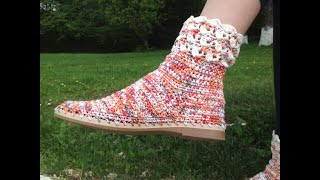 cizme crosetate papuci crosetati tutorial video detaliat