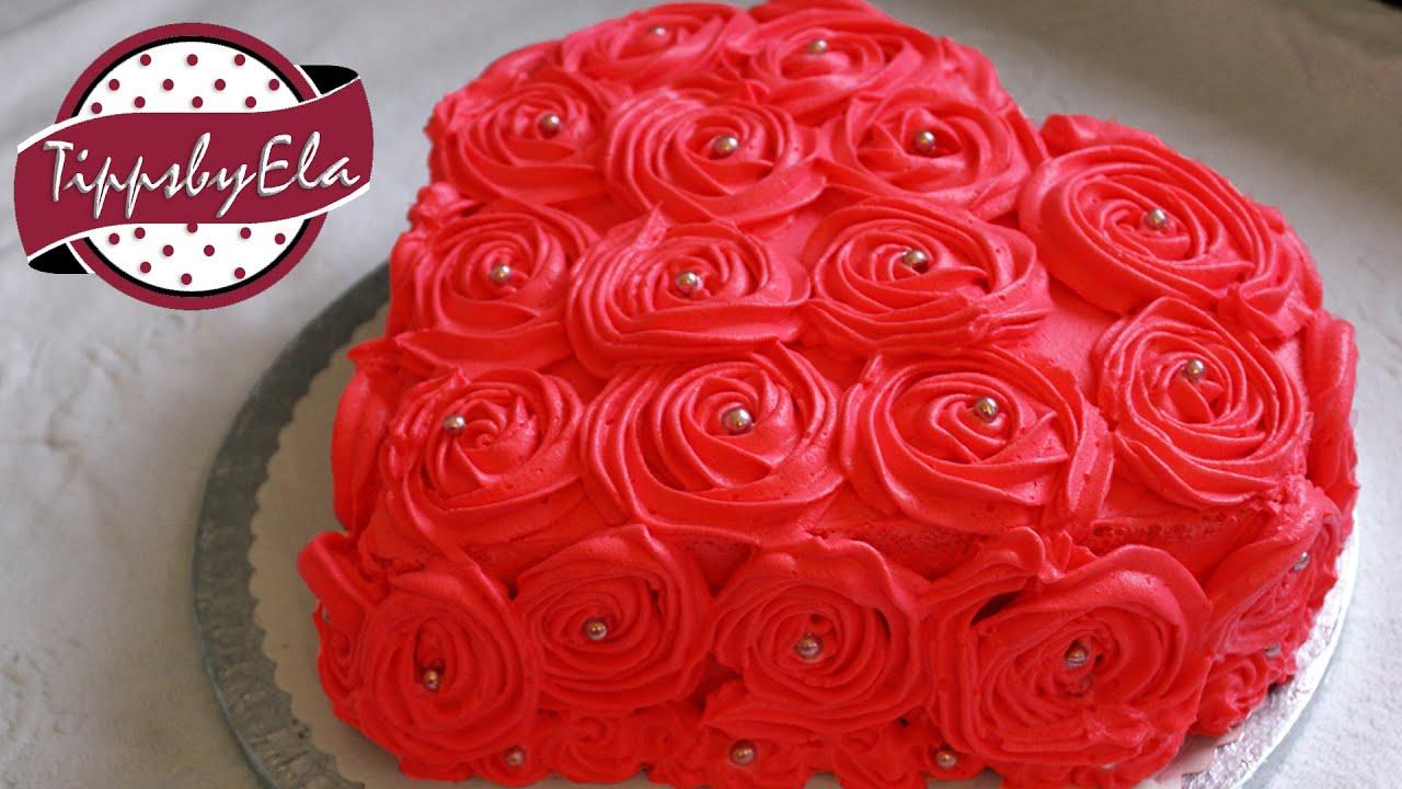 Muttertagstorte Rosen Torte Herztorte Valentinstag Torte