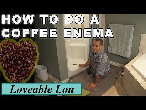 How to do a Coffee Enema. Step by Step. Easy to follow at Home