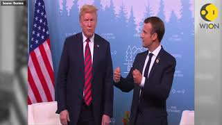 Macron handshake leaves imprints over Trumps hand after G7 meeting