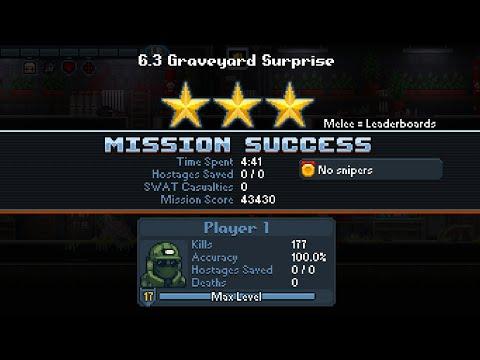 "Door Kickers: Action Squad - Mission 6.3 ""Graveyard Surprise"" - 3 Star - 241 Seconds"