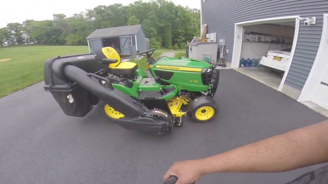 2018 John Deer X739 14 Bushel system removal how to  (first timer)