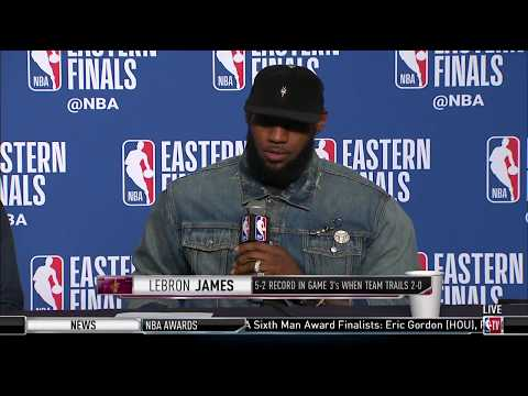 LeBron James and Kevin Love | Eastern Conference Finals Game 3 Press Conference