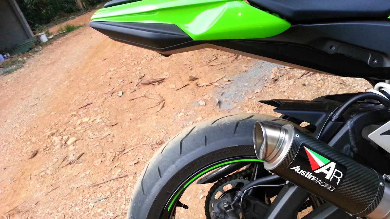 zx10r 2013 with austin racing exhaust - youtube