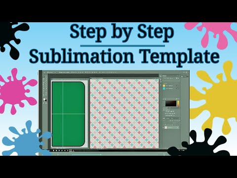 How To Use Photoshop for Sublimation Sub Template PS Clipping Mask -Designing  for a Substrate