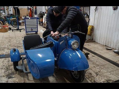 видео: Редчайший мотороллер с коляской из 1964 года!