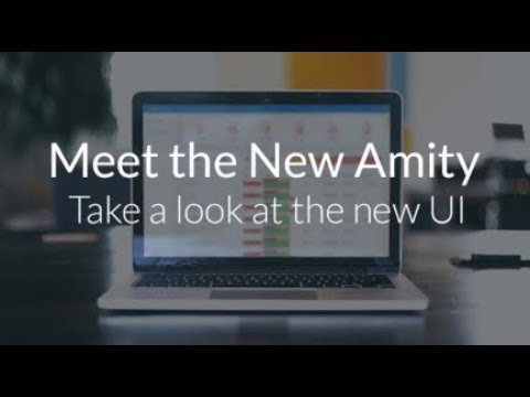 Amity New UI Product Tour