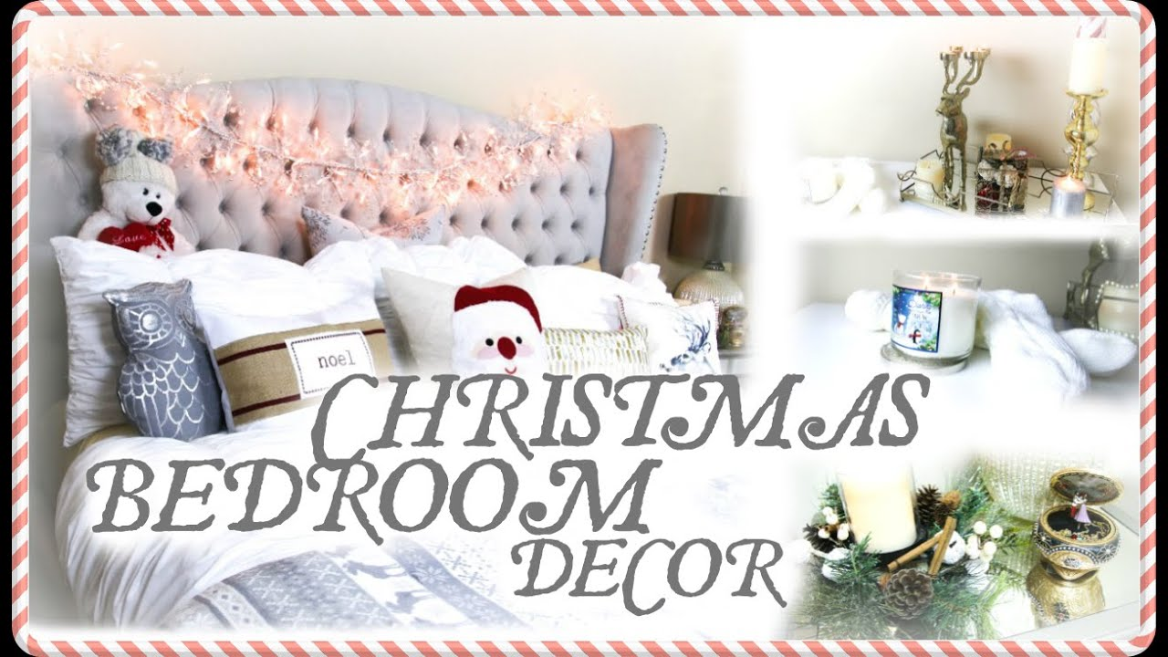 my christmas bedroom decor youtube