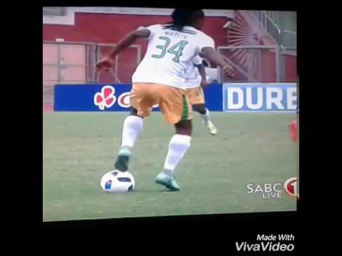 """Tshepo """"Skhwama"""" Matete  During the Nedbank Cup for Baroka F.C against Golden Arrows."""