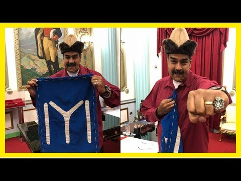 Breaking News   Venezuelan president wears Turkish TV series symbols