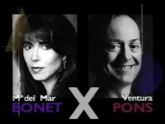 Maria del Mar Bonet X Ventura Pons. Autor X Autor. Producció SGAE. 1997
