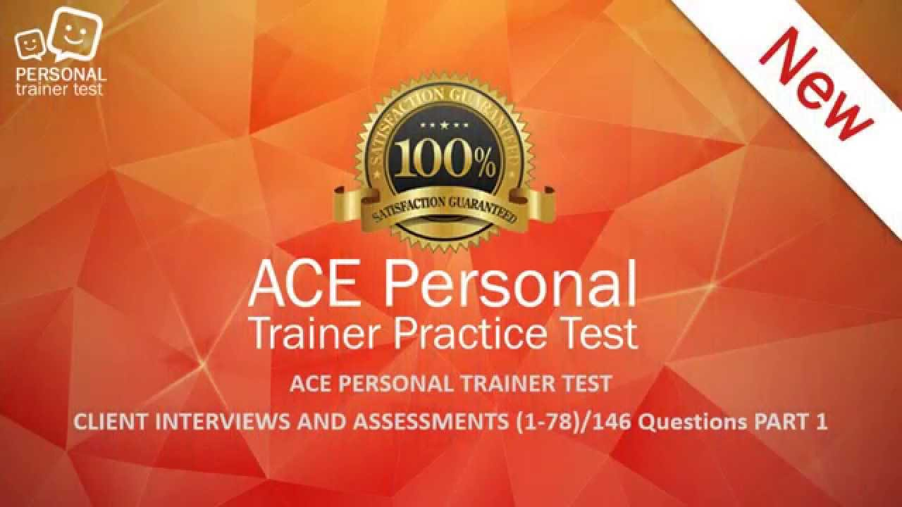 ACE personal trainer test client interviews and assessments flash ...