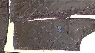 Перешиваем  мужское демисезонное пальто в зимнее  Часть 3