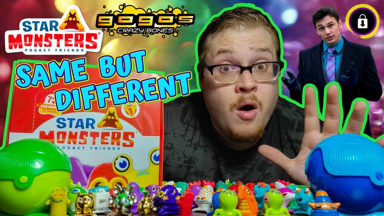 Same Same, But Different   Star Monsters Pocket Friends SERIES 1 Unboxing + Bonus Crazy Bones TEASER