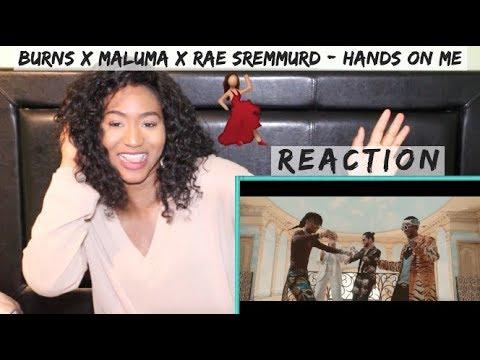 BURNS x Maluma x Rae Sremmurd - Hands On Me | REACTION