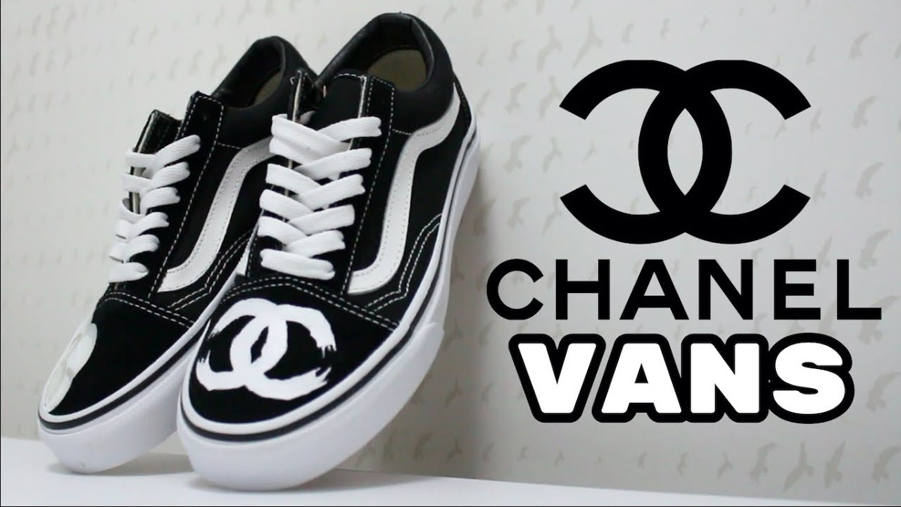 Drippy Chanel Vans Custom NWT
