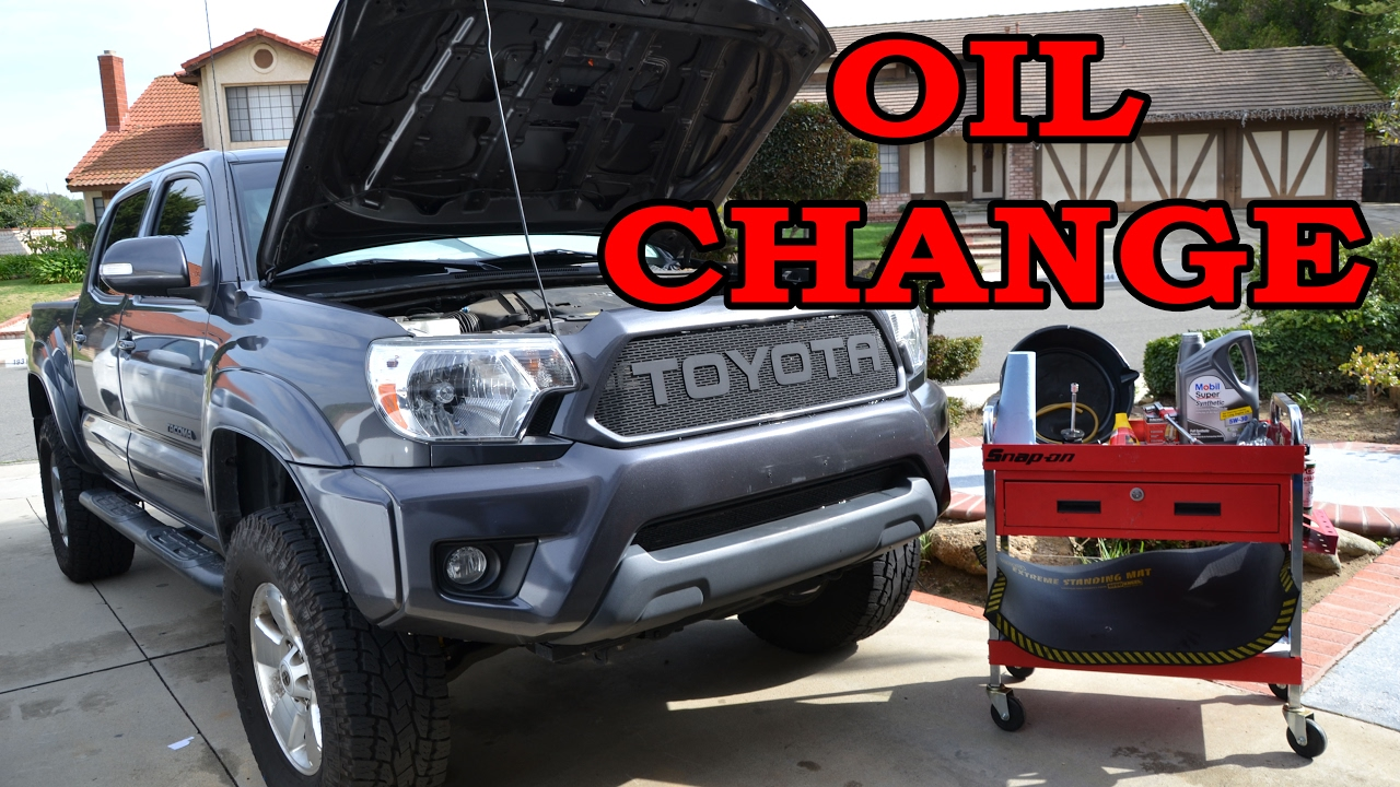 2013 tacoma oil filter removal