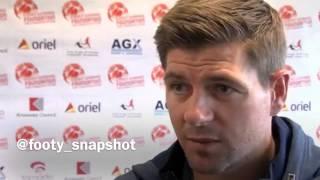 Steven Gerrard on Liverpool Champions League Draw