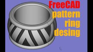FreeCAD pattern ring desingn