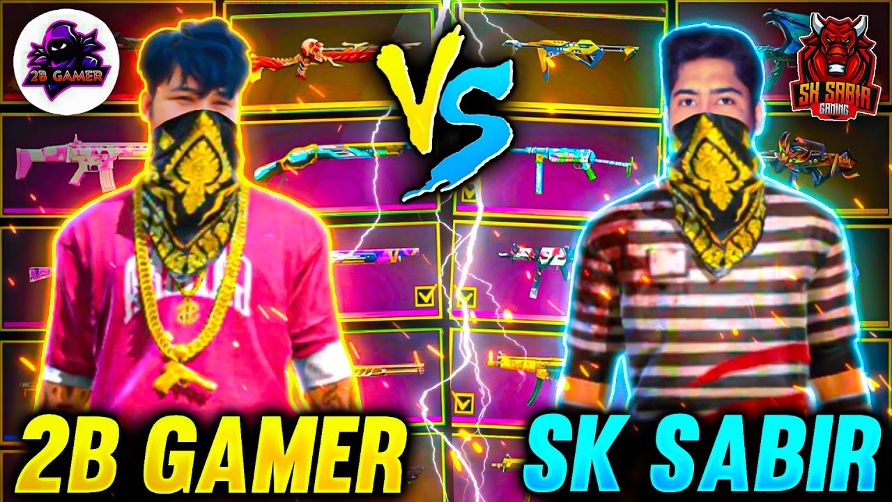 Rare Gun Skill Battle😯 ||SK Sabir Boss👑 Vs 2B Gamer || ||You Must Watch || Garena Freefire
