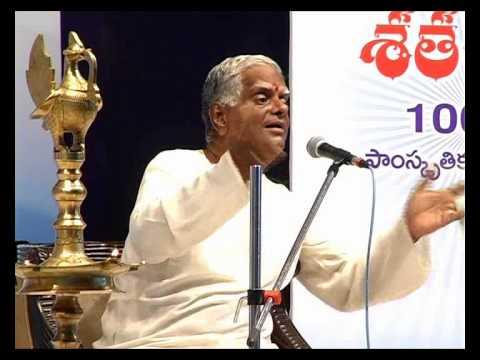 Sataroopa 2013 Telugu Literary Talks - Ancient Literature by Acharya Salaka Raghunatha Sarma