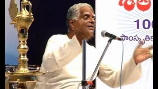 Sataroopa 2013 Telugu Literary Talks - Ancient Literature by Acharya Salaka Raghunatha Sarma