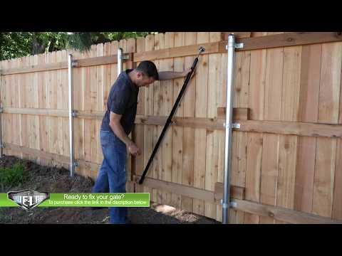 True Latch Gate Brace - Lift your gate in seconds.  Perfect DIY/Contractor gate repair kit!